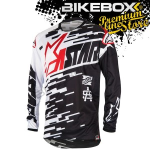Bluza Jersey Alpinestars Racer Braap Black/Red