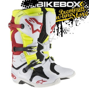 Buty Offroad Alpinestars TECH 10 White/Red/Blue