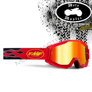 Gogle FMF 100% PowerCore Flame Red
