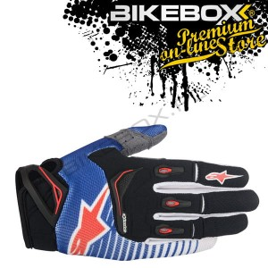 Rękawice Tekstylne Alpinestars Off-Road Techstar Factory Blue